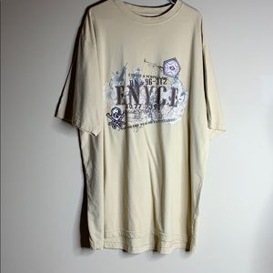 Enyce Cream and Brown T-Shirt Size 3XL Like New
